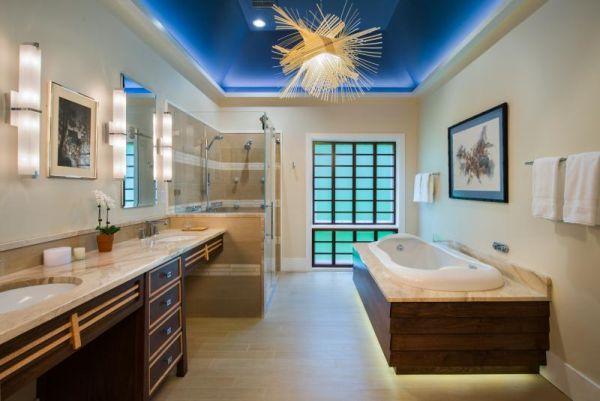 Удивительная ванная комната в японском стиле