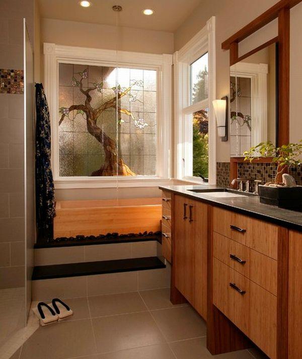 Умопомрачительная ванная комната в японском стиле