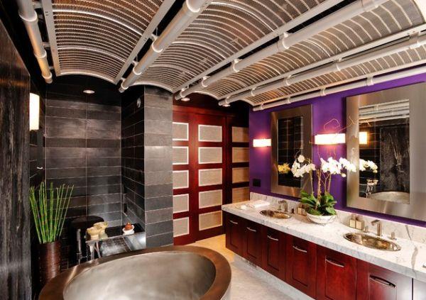 Очаровательная ванная комната в японском стиле