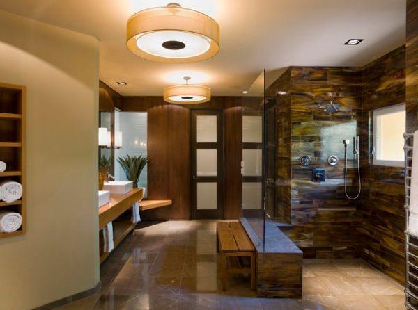 Восхитительная ванная комната в японском стиле
