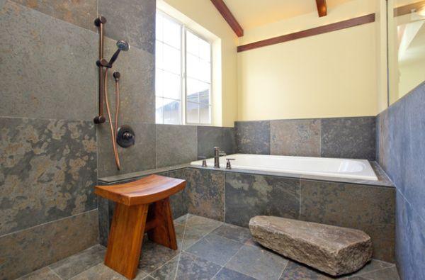 Изящная ванная комната в японском стиле
