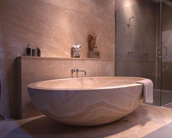 Первоклассная ванная комната в японском стиле
