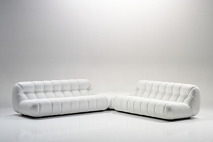 Стильные белые диваны