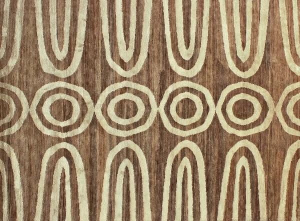 Дизайнерский ковер из неокрашенных волокон конопли