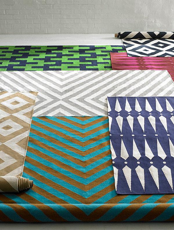 Яркие краски ковров от студии Jonathan Adler
