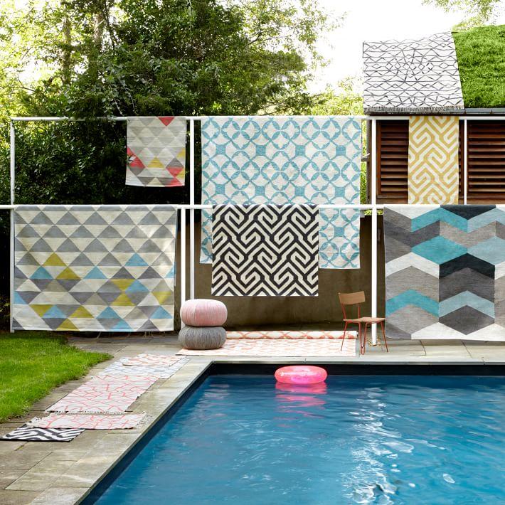 Различные ковров с геометрическими узорами