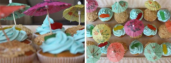 Кексы с зонтиками