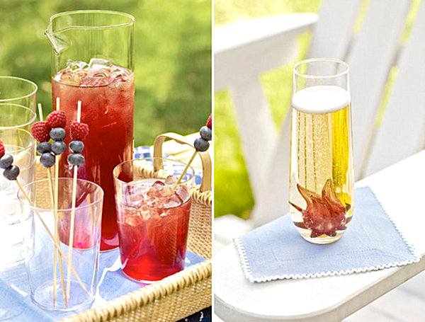 Яркие летние освежающие напитки