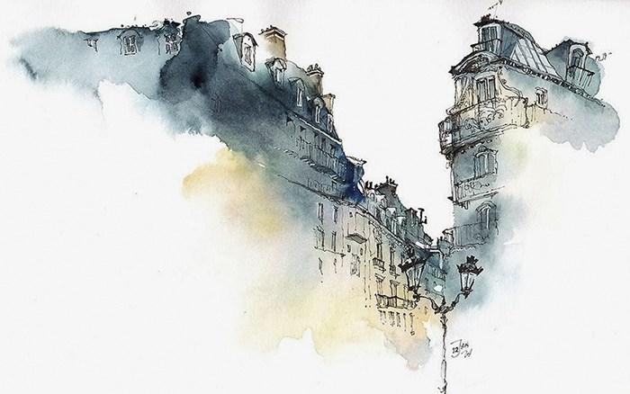 Сунга Парк: архитектурные акварели в тумане грёз и воспоминаний