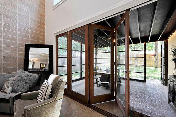 Ультра модная веранда с выдвижными дверями
