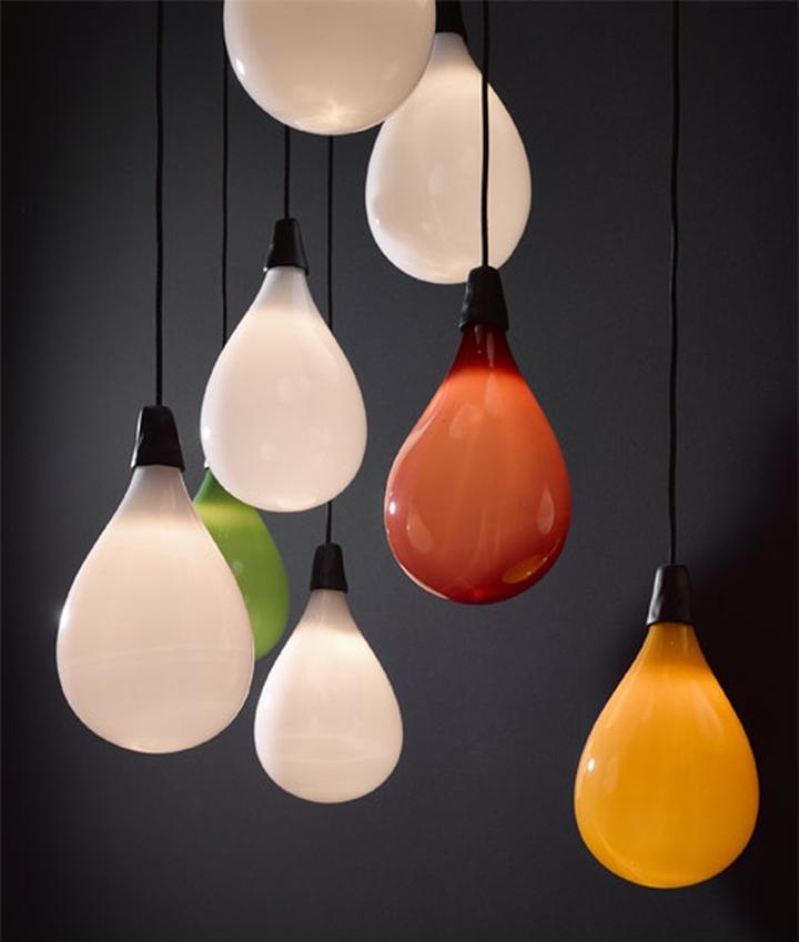 Уникальные подвесные светильники из коллекции Das Pop от Маартена Бааса