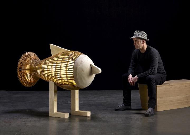 Скульптурный дизайн лампы Koi Fish от LZF Lamps