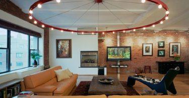 Светильники для гостиной. Фото люстры с множеством лампочек
