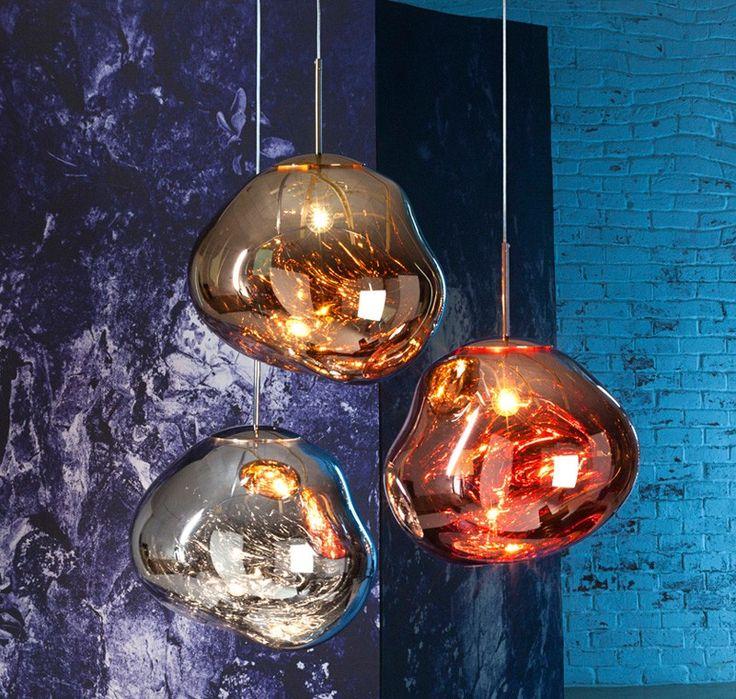 Светильники из выдувного стекла необычной формы