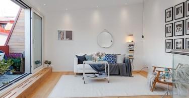 Интерьер гостиной в шведском стиле