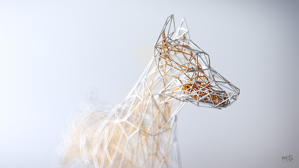 Мат Шулик: элегантные 3D модели скульптур животных из проволоки