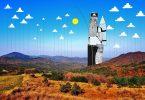 Рисунки на фотографии от Томаса Ламадью: продолжение шуточной серии «Небесное искусство»