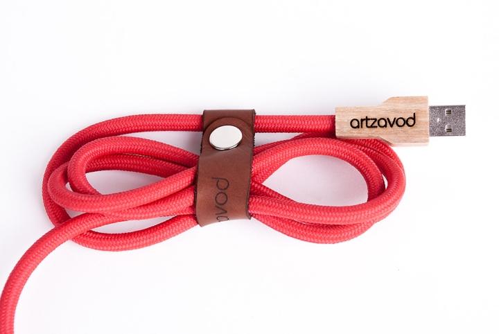 Удобный кожаный ремешок для шнура