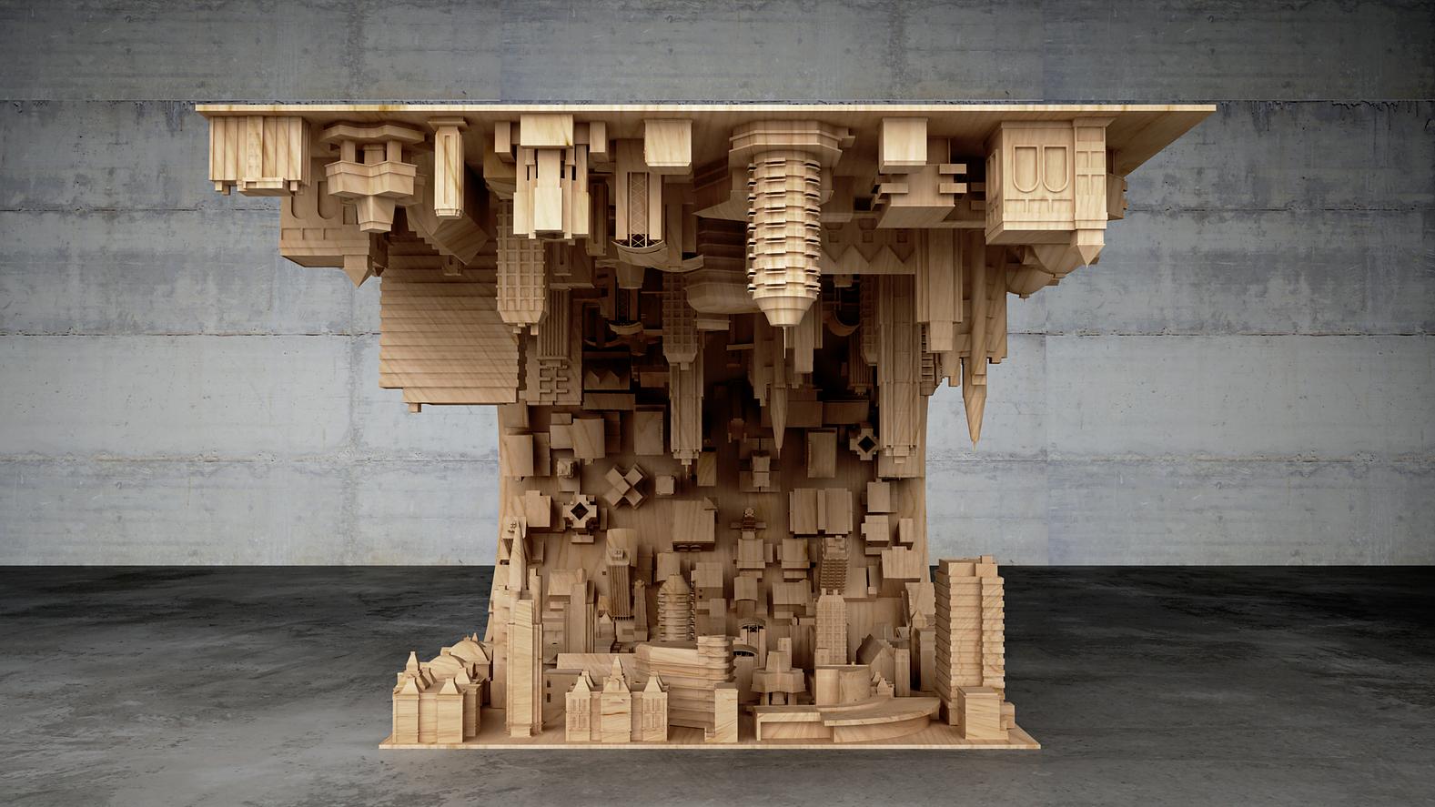 Все здания выполнены из дерева