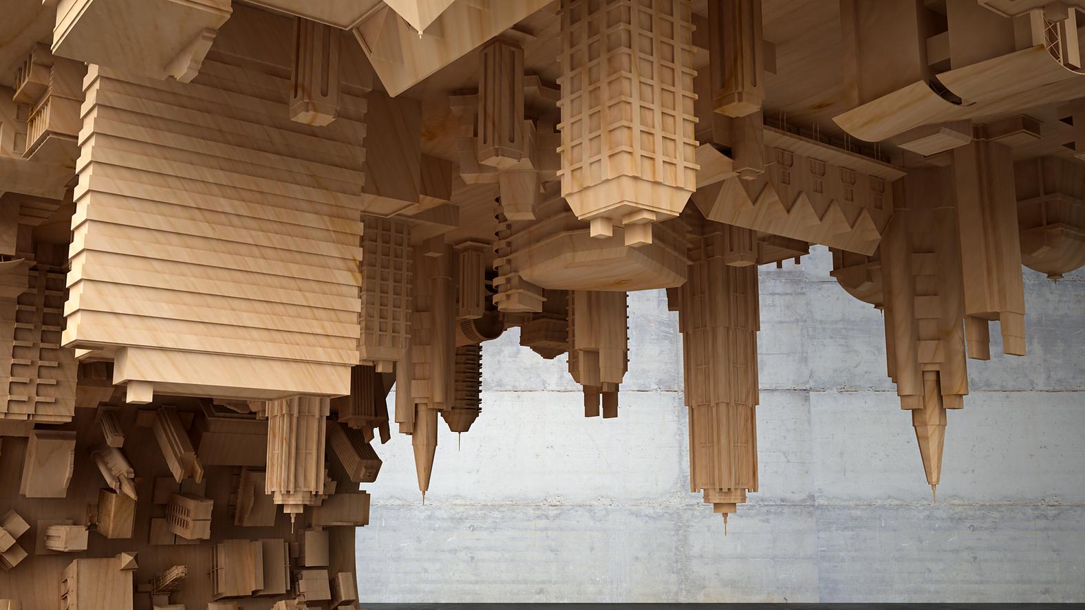 Здания имеют мелкие детали, которые выполнены с невероятной точностью