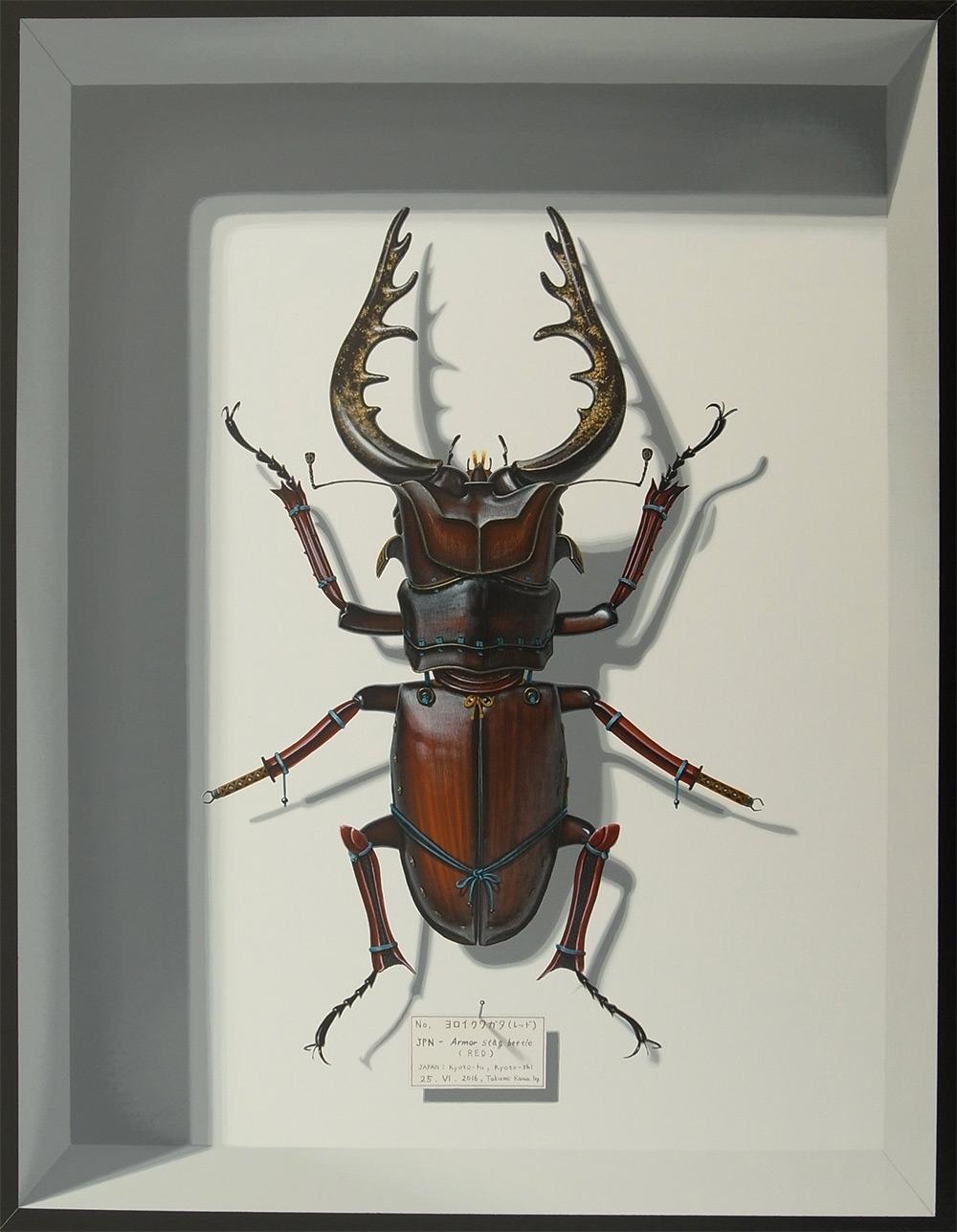 Гиперреалистичные картины Такуми Кама: мимикрия придуманных насекомых