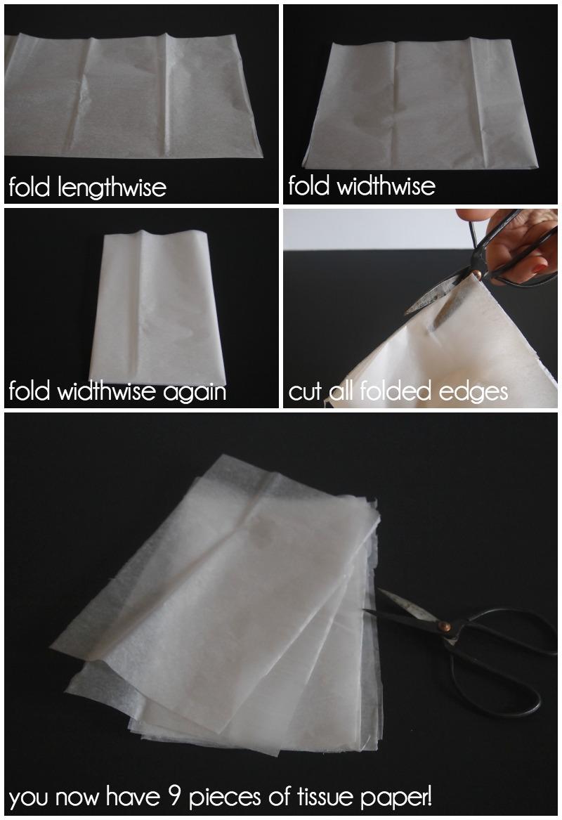 Подготовка папиросной бумаги для кисточек