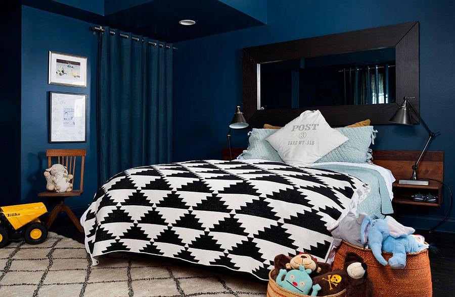 Тёмные шторы в интерьере дома - дизайн детской