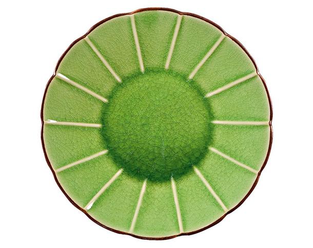 Десертная тарелочка в виде зеленого цветочка