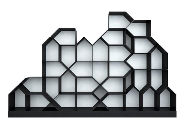 Стеллаж с пятиугольными отсеками