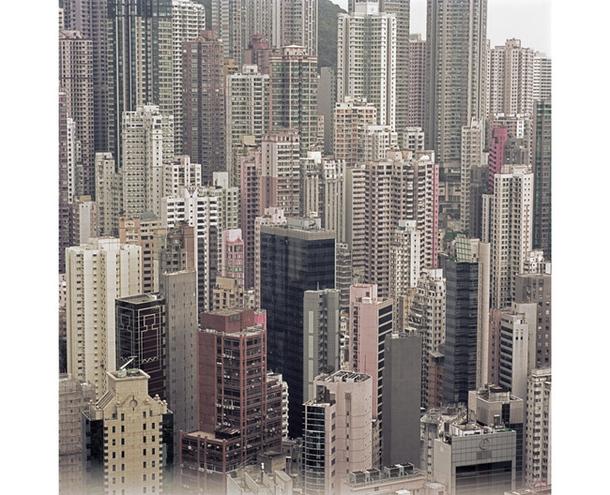 Район Гонконга с высоты птичьего полета