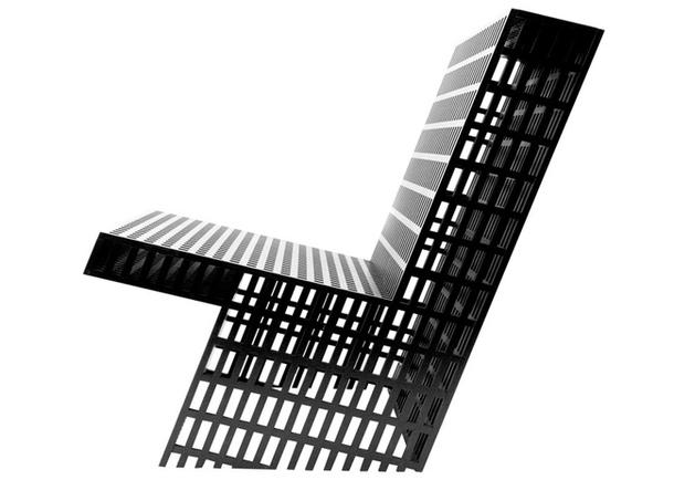 Чёрный Фанерный стул
