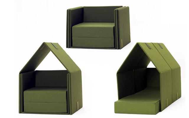 Las increíbles aventuras de un pequeño sofá: una solución inusual de sofás de campaña por Campeggi