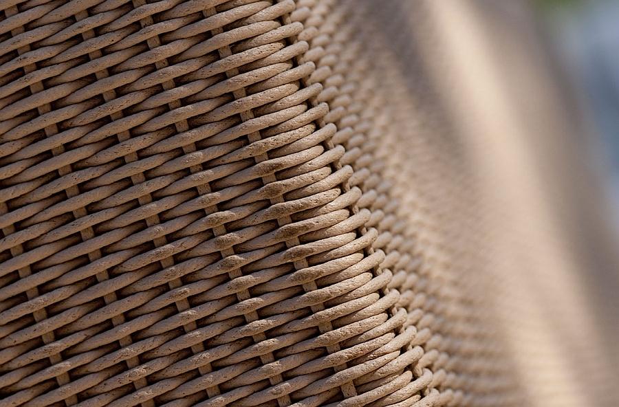 Плетеная текстура мебели