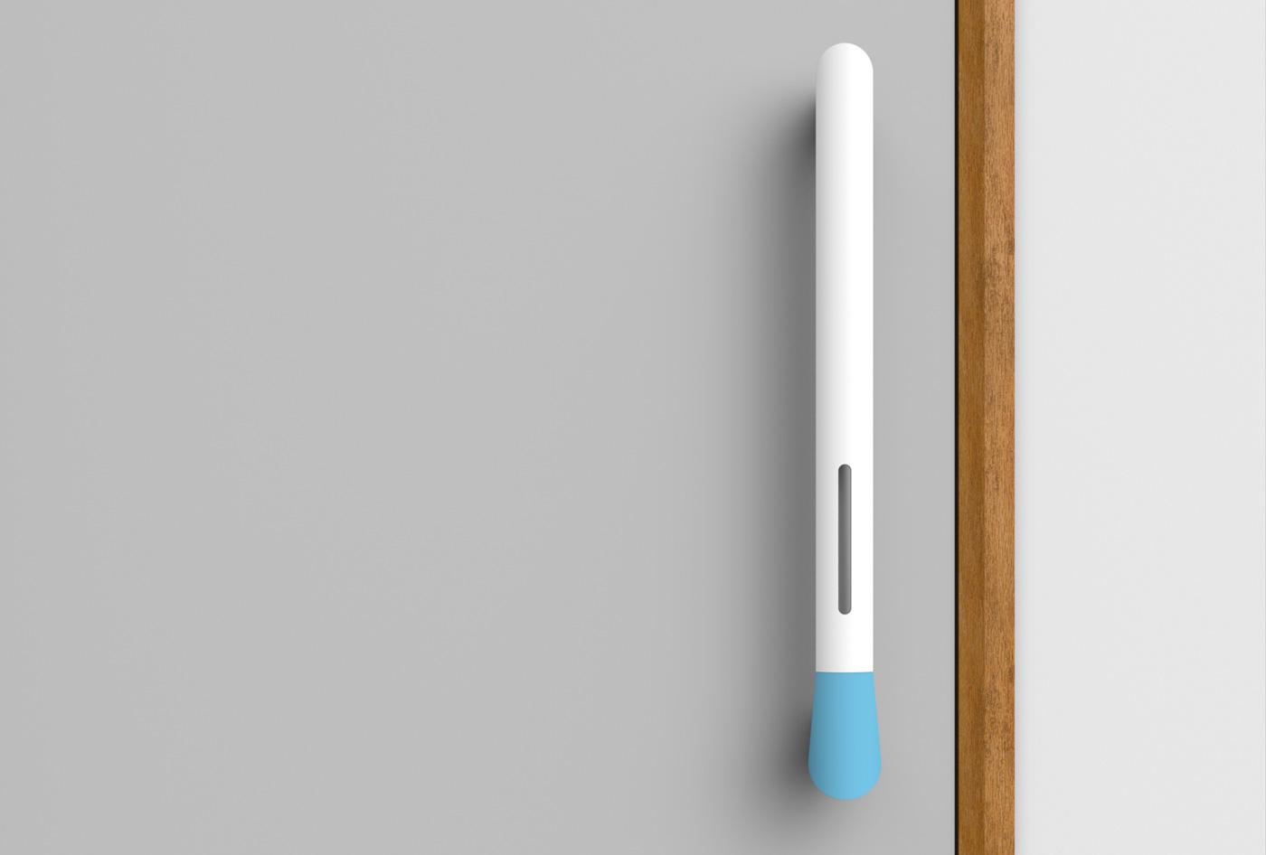 Белая дверная ручка