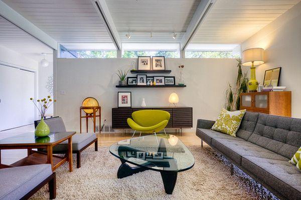 Низкая мебель в гостиной