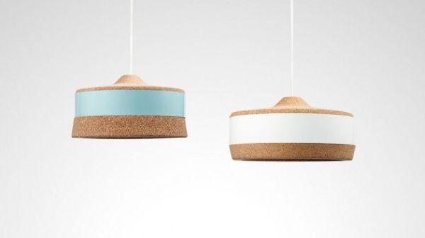 Декоративные светильники из пробки и металла