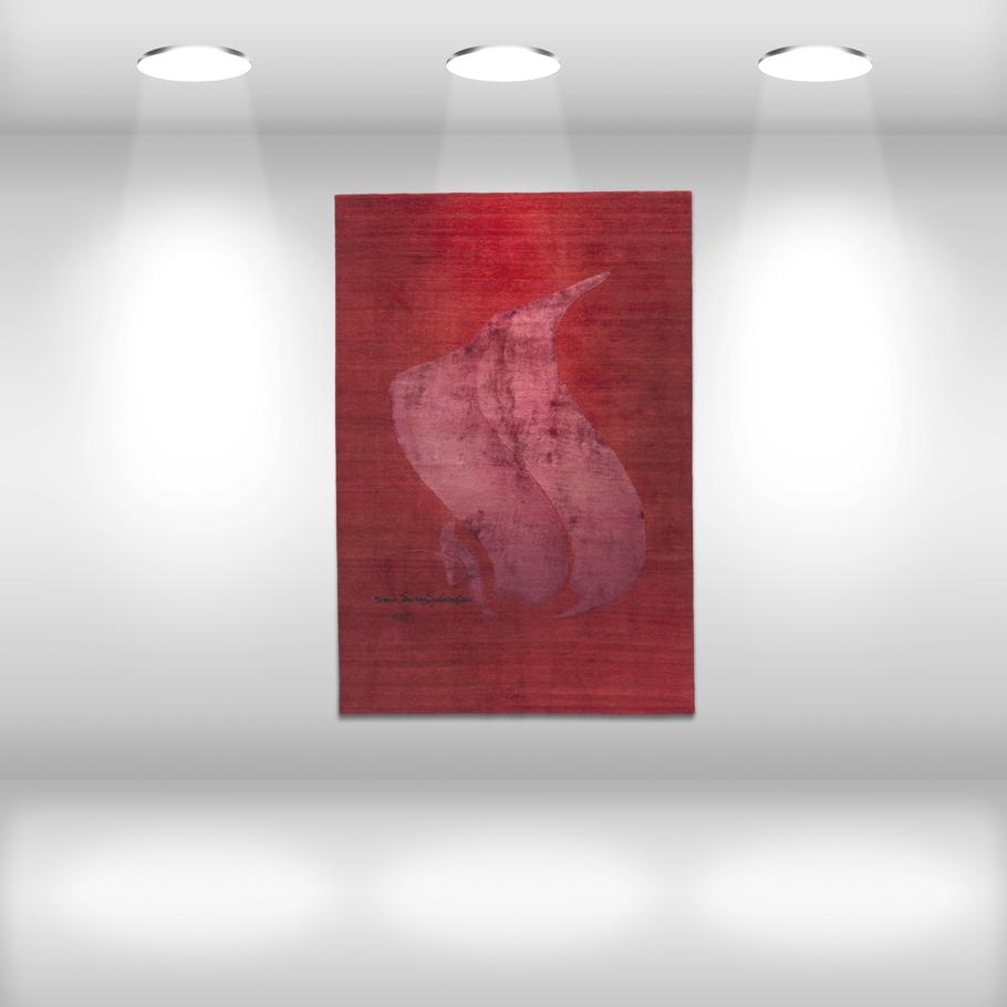 Настенный палас красного цвета от Esti Barnes