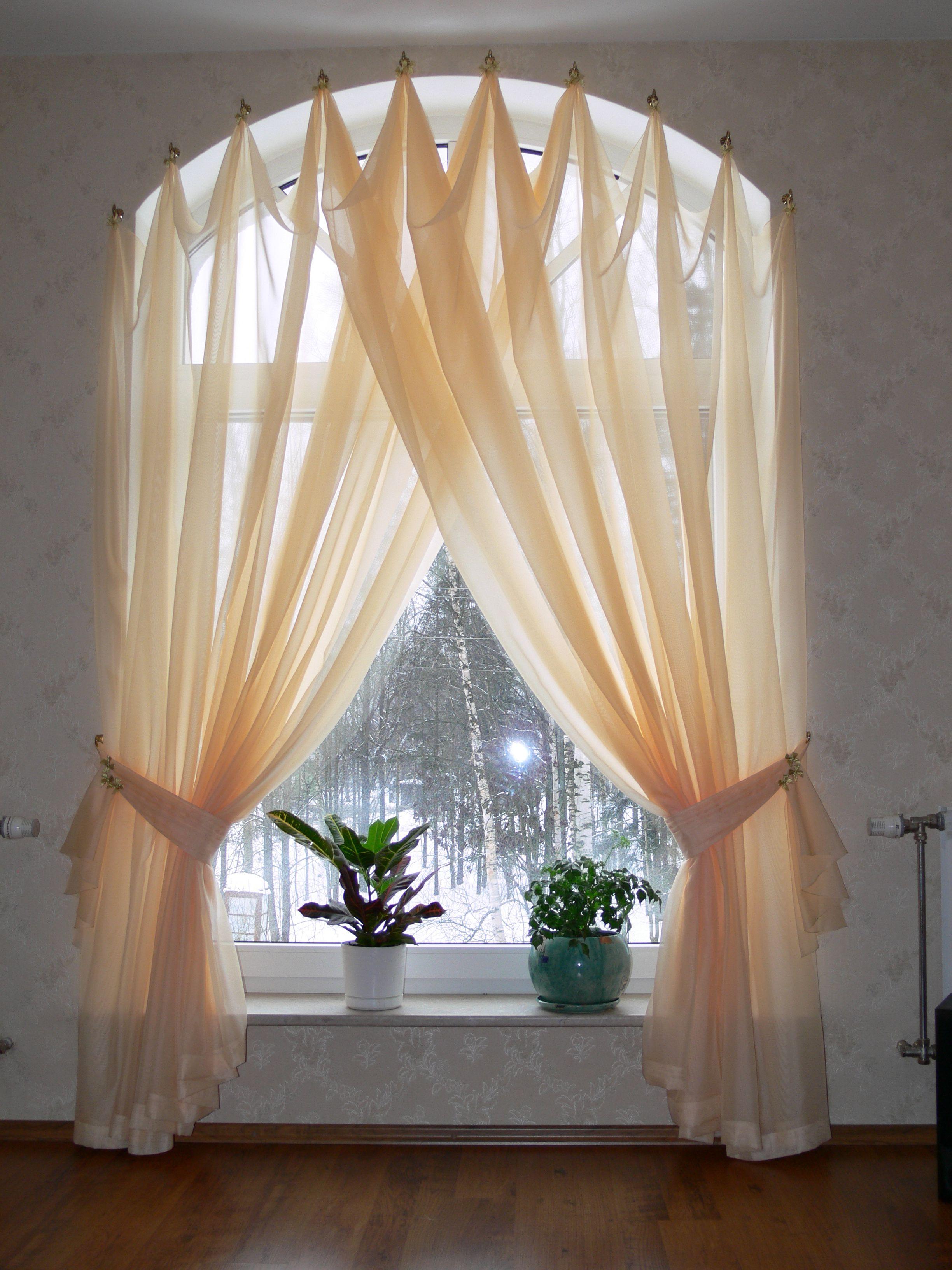 Дизайн штор на арочные окнагалерея
