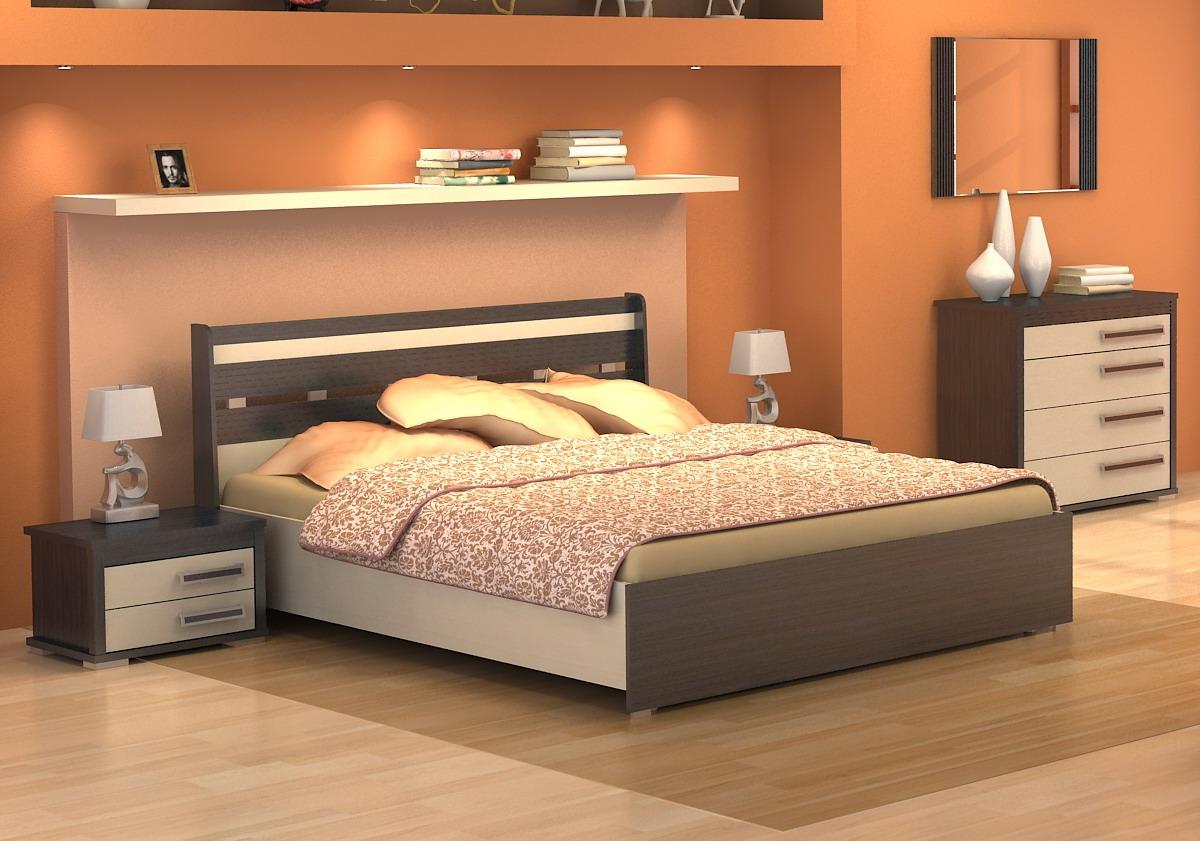 Современная кровать в спальне