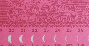 Алек Тибодо: Лунный календарь для офсетной печати на 2017 год