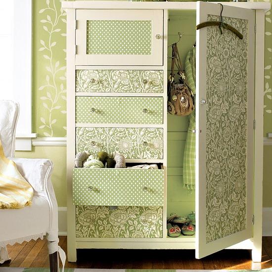Декор старого шкафа своими руками фото