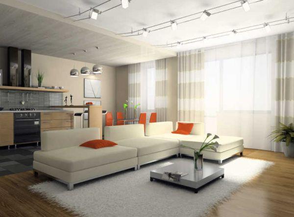 Хорошие подвесные лампы в интерьере помещения
