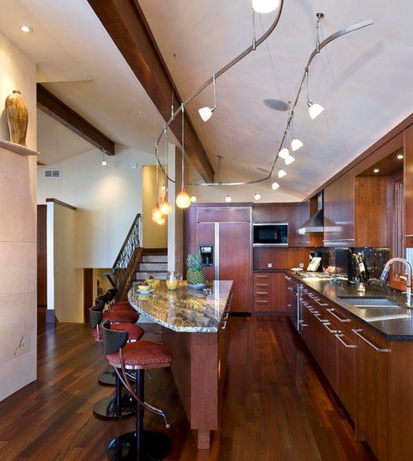 Превосходные подвесные лампы в интерьере помещения