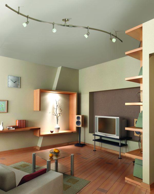 Удивительные подвесные лампы в интерьере помещения