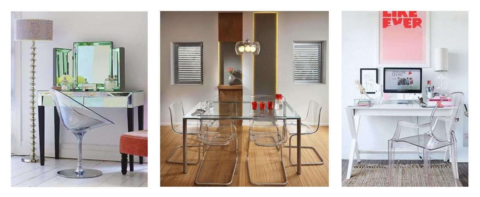 Поразительные прозрачные стулья в интерьере