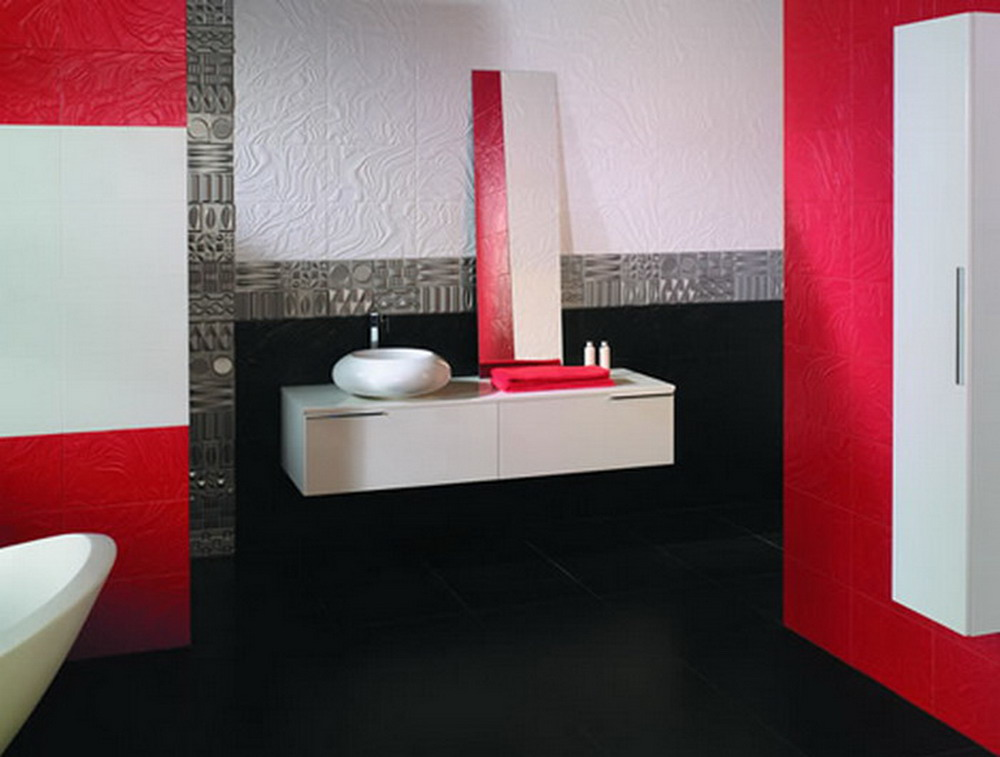 Trendy bathroom tiles