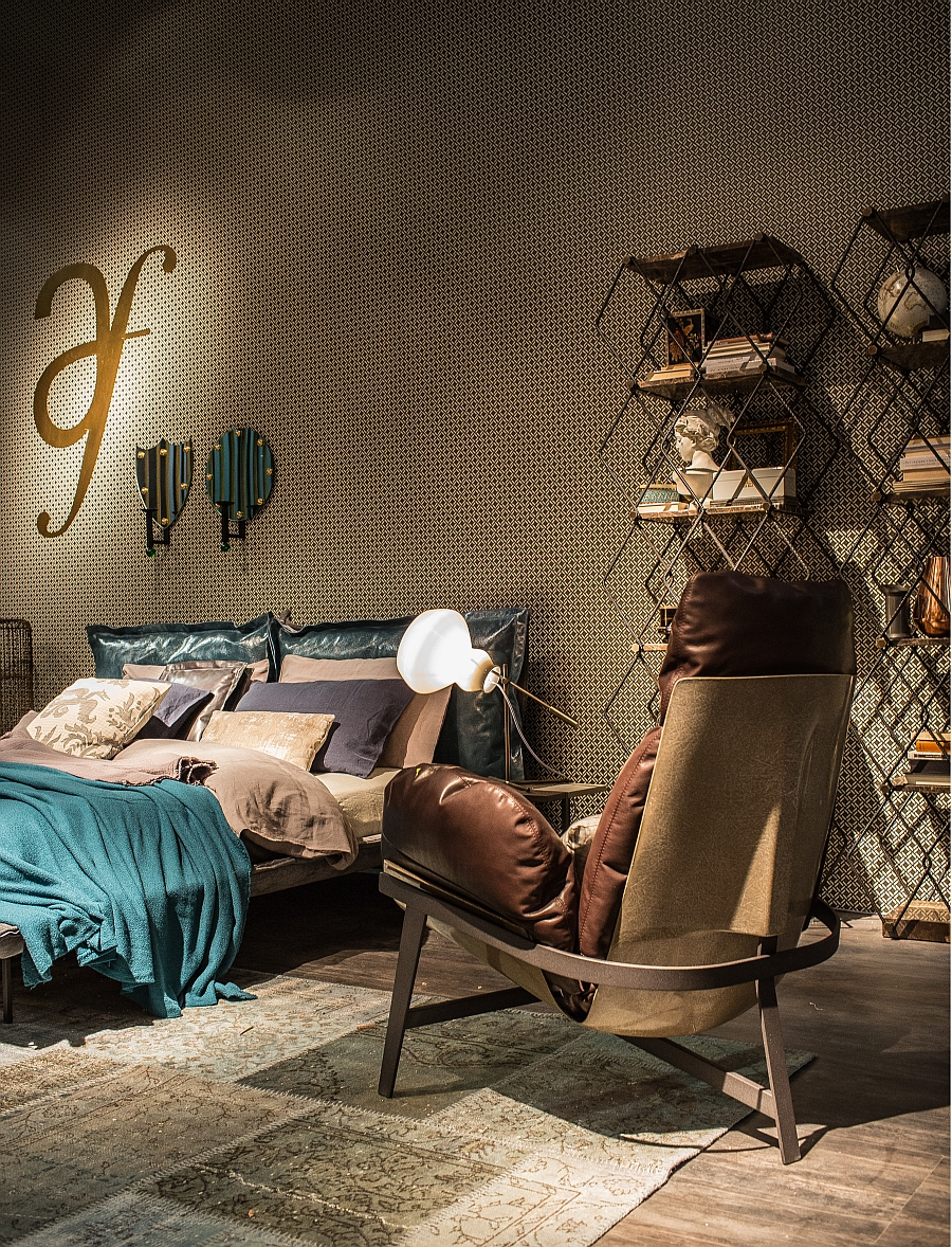 Геометрические элементы в оформлении спальни