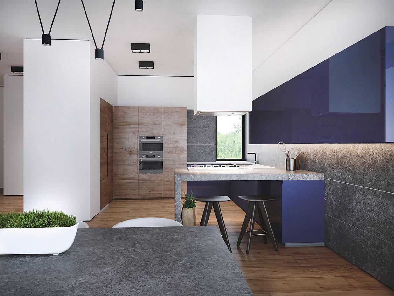 Дизайн кухни с барной зоной