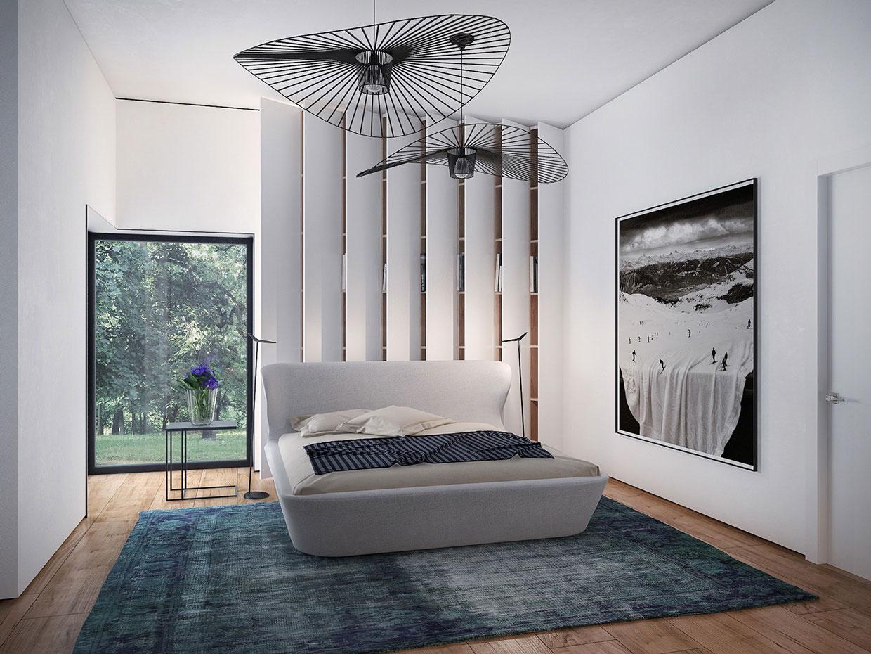 Современная спальня по проекту Павла Войтова