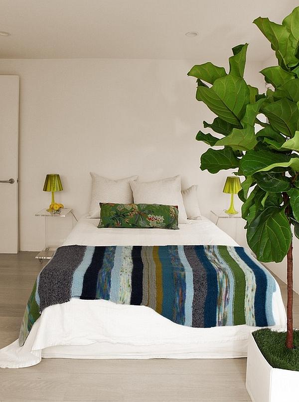 Зеленые лампы в дизайне интерьера